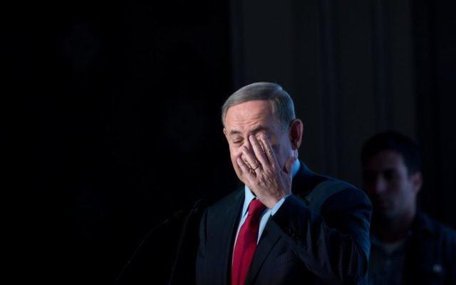 Le Premier ministre Benjamin Netanyahu lors de la conférence diplomatique à Jérusalem, le 23 novembre 2016. (Crédit : Miriam Alster/Flash90)