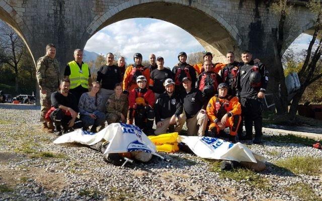L'équipe de ZAKA qui a participé à l'exercice de l'OTAN au Monténégro, le 3 novembre 2016 (Crédit : Autorisation)