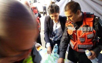 Sharon Haskel à Haifa alors que des incendies ont éclaté dans le nord du pays, le 24 novembre 2016  (Crédit : autorisation)
