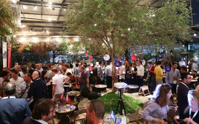 Le lancement du concours InsurTech à Tel Aviv (Crédit : Autorisation de Dror Sithakol)
