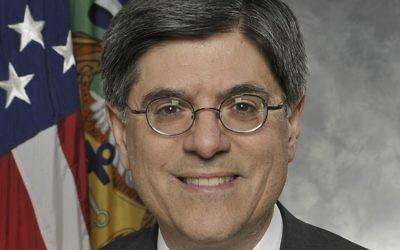Jack Lew, secrétaire au Trésor des Etats-Unis. (Crédit : département du Trésor des Etats-Unis/Domaine public/Wikipedia)