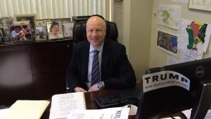 Jason Dov Greenblatt, avocat en droit de l'immobilier de Donald Trump et juif orthodoxe, est l'un des trois conseillers du président élu sur Israël. (Crédit : JTA/Uriel Heilman)