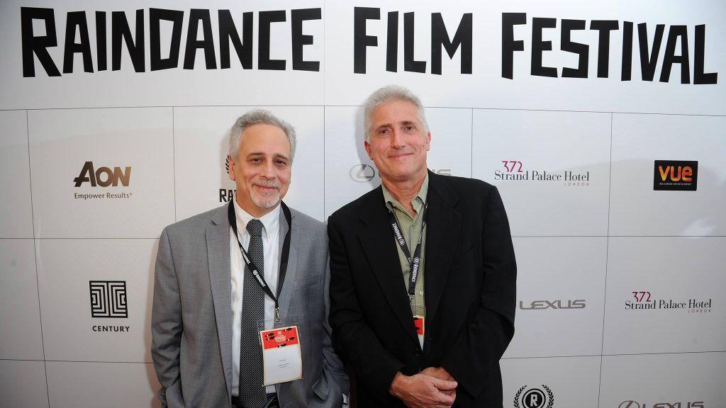 Lawrence Russo (gauche) et Larry Confino au Raindance Film Festival. (Crédit : Eamonn M. McCormack)