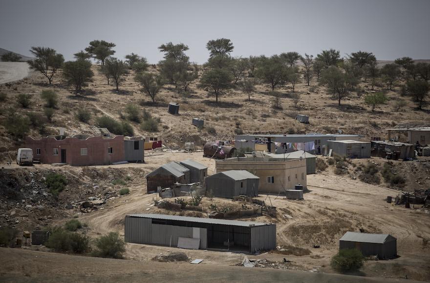Le village bédouin d'Umm al-Hiran, dans le désert du Néguev israélien, le 27 août 2015. (Crédit: Hadas Parush/Flash90)