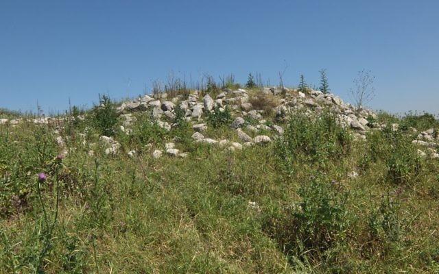 Les ruines du village arabe de Beit Nattif, dans une forêt du KKL. (Crédit : (Davidbena/CC BY-SA/Wikipedia)