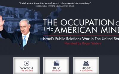 """Le site internet du documentaire """"L'occupation de l'esprit américain : la guerre des relations publiques d'Israël aux Etats-Unis"""". (Crédit : capture d'écran)"""