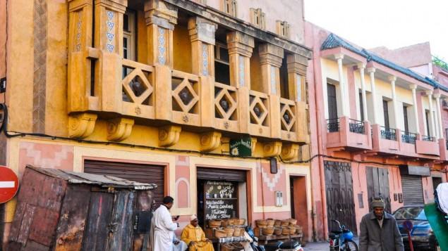 Un vue de la petite synagogue indéfinissable à proximité de la mellah de Marrakech. Une famille juive est encore propriétaire de la synagogue mais elle n'est plus ouverte au public. (Crédit : Michal Shmulovich)