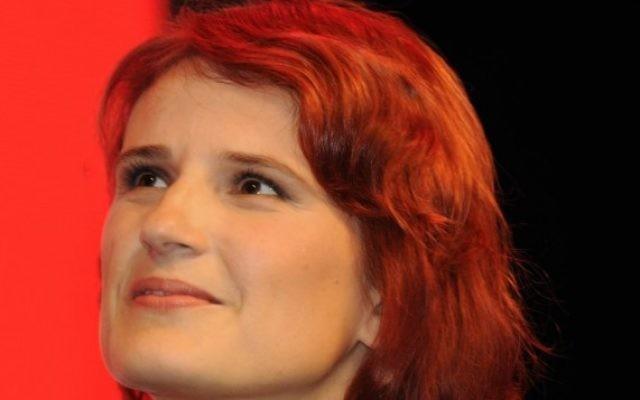 La dirigeante du Parti de Gauche allemand,  Katja Kipping (Crédit : CC BY-SA DerHexer, Wikimedia)