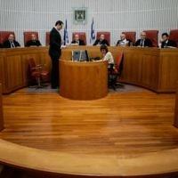 La Haute-Cour de Justice en session, en juillet 2013. (Crédit : Miriam Alster/Flash90)