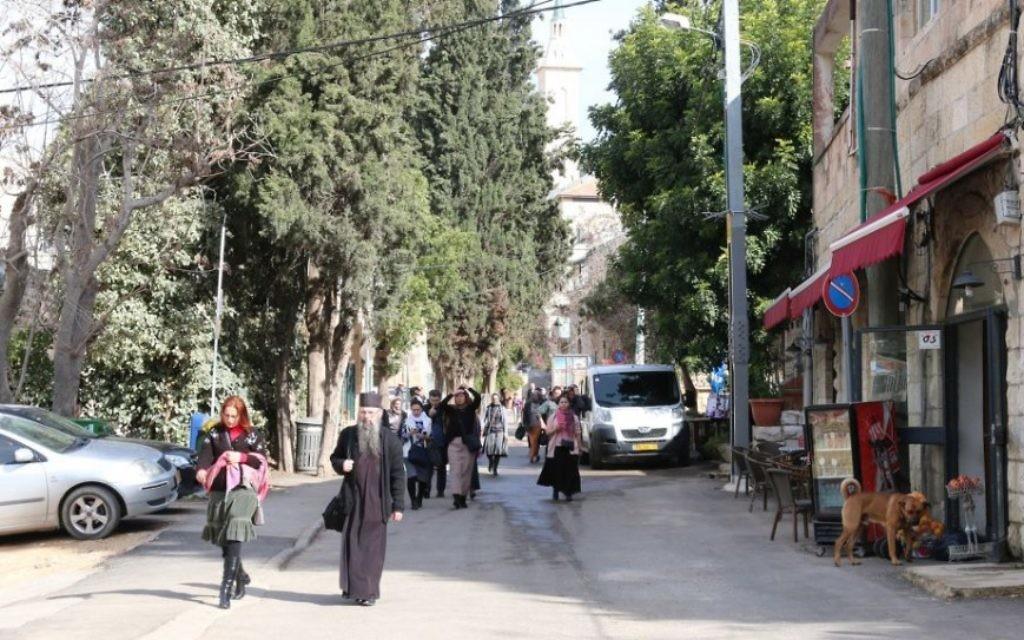 Le quartier historique de Jérusalem d'Ein Kerem serait le lieu de naissance de Jean-Baptiste et est habité par des juifs depuis l'époque du deuxième Temple. (Crédit : Shmuel Bar-Am)