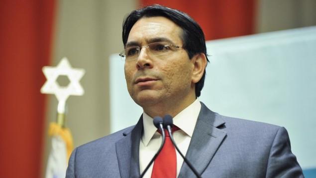L'ambassadeur israélien à l'ONU Danny Danon lors d'une conférence anti-BDS au siège des Nations Unies à New York, le 17 novembre 2016. (Crédit : Harel Rintzler)