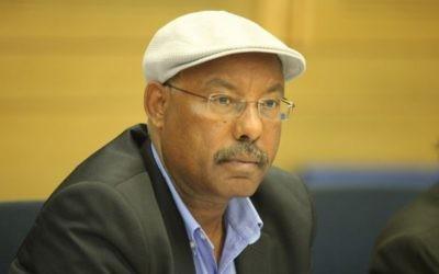 Avraham Neguise, député du Likud et président de la commission pour l'Immigration, l'Intégration et la Diaspora de la Knesset. (Crédit :  GPO)