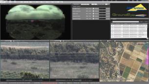 Le système de surveillance GroundEye d'Elbit permet aux utilisateurs de zoomer et de manoeuvrer entre divers domaines d'intérêt pour identifier les menaces possibles. (Crédit)