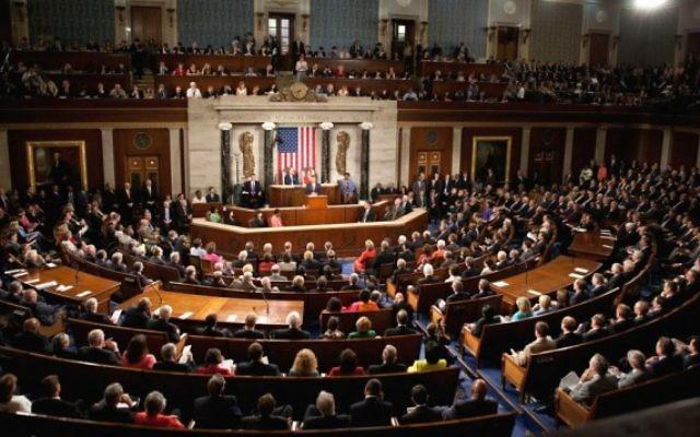 Illustration: Une session conjointe du Congrès américain, le 9 septembre 2009.  (Crédit : Wikipedia/Lawrence Jackson/whitehouse.gov/domaine public)