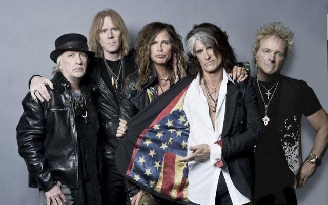 Le rock band Aerosmith . (Crédit : Facebook)