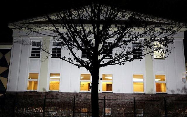 La maison du Habad à Berlin, en Allemagne, le 29 janvier 2015. (Crédit : Yaakov Naumi/Flash90)