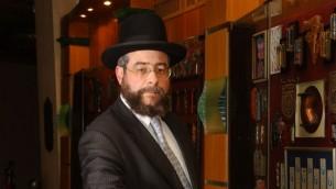 Le rabbin Pinchas Goldschmidt. (Crédit : Flash90)