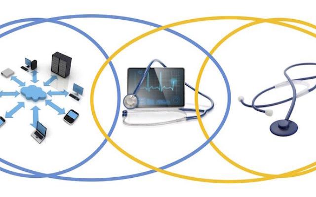 Un graphique décrivant le lien entre la technologie numérique et les applications médicales (Crédit :  VLX Ventures)