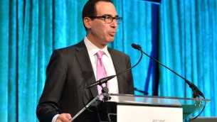 Steven Mnuchin pendant City Harvest: An Event Of Practical Magic à New York, le 24 avril 2014. (Crédit : Andrew H. Walker/Getty Images for City Harvest via JTA)