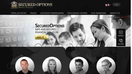 Le site internet de Secured Options (capture d'écran)