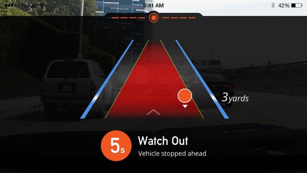 Nexar Technology détecte un événement routier (Crédit : Autorisation)