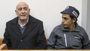 Le député arabe Basel Ghattas lors d'une audience consacrée à sa détention préventive au tribunal de Rishon Lezion, le 23 décembre 2016. (Crédit : Jack Guez/AFP)