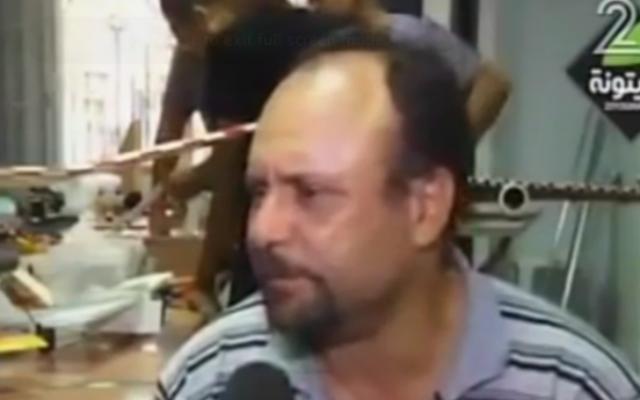 Mohammed al-Zoari, ingénieur tunisien lié au Hamas abattu en Tunisie le 15 décembre 2016. (Crédit : capture d'écran Deuxième chaîne)