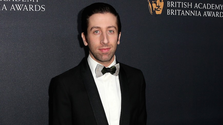 Simon Helberg à Beverly Hills, le 28 octobre 2016. (Crédit : Frederick M. Brown/Getty Images/JTA)