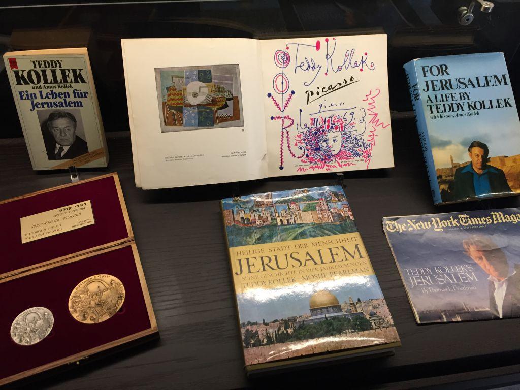 Un croquis tout juste découvert de Picasso, qui représente Teddy Kollek, l'ancien maire de Jérusalem. Décembre 2016. (Crédit : autorisation)