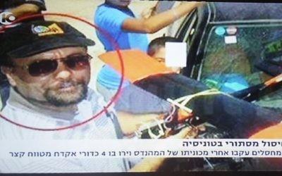 Mohammed al-Zoari, ingénieur tunisien lié au Hamas, a été tué près de sa maison de Sfax, en Tunisie, le 15 décembre 2016. (Crédit : capture d'écran Dixième chaîne)