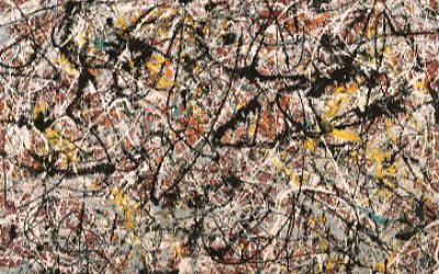 'Mural on Indian Red Ground', de Jackson Pollock. (Crédit : Wikipedia/Usage loyal)