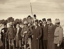 La reddition ottomane à Jérusalem, en 1917 (Crédit : Domaine public)