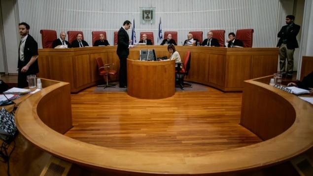 La Haute-Cour de Justice en session, en juillet 2013 (Crédit : Miriam Alster/Flash90)