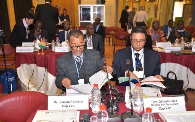 Les délégués d'Afrique de l'ouest lors d'une conférence agricole en Israël, le 5 décembre 2016 (Crédit : Mashav)