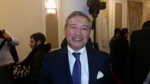 L'ambassadeur du Kazakhstan en Israël, Doulat Kuanyshev (Crédit : Raphael Ahren/TOI)