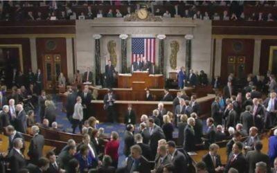 La Chambre des représentants des États-Unis. Illustration. (Crédit : capture d'écran YouTube)