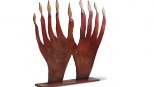 La hanoukkiah de Roland Topor (Crédit : autorisation La Triennale di Milano))