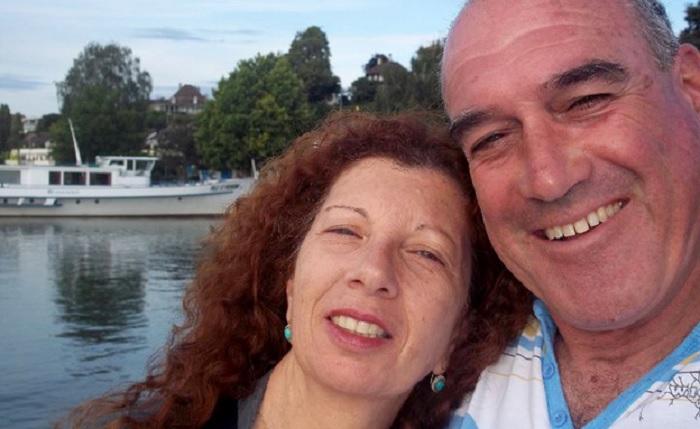 Dalia et Rami Elyakim, couple israélien victime de l'attentat du marché de Noël de Berlin, le 19 décembre 2016. Rami a été grièvement blessé et Dalia est morte. (Crédit : Facebook)