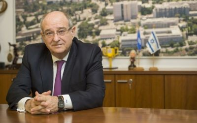 Le président du Technion, Professeur Peretz Lavie (Crédit : Nitzan Zohar/Office of the Spokesperson, Technion)