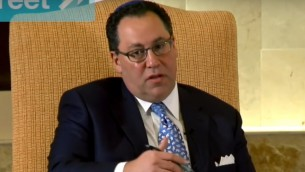 Matt Brooks, directeur de la Coalition juive républicaine. (Crédit : capture d'écran YouTube)
