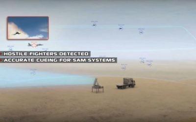 Présentation par l'IAI du radar ELM 2084 MMR dont 8 exemplaires ont été vendus à la République tchèque, en décembre 2016. (Crédit : capture d'écran YouTube)