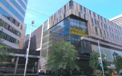 Le campus de l'Université de Ryerson à Toronto (Capture d'écran : YouTube)