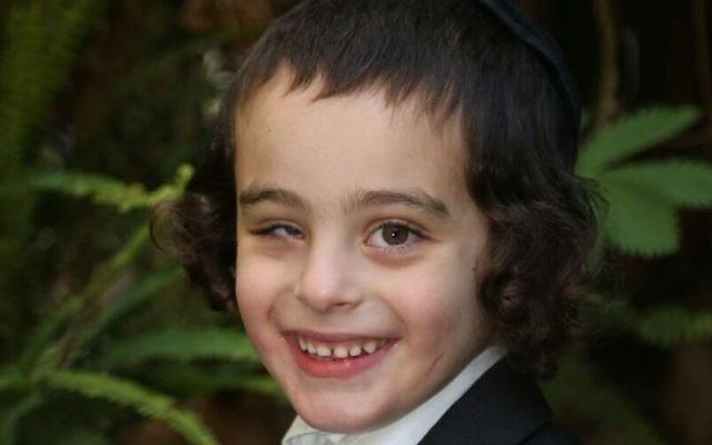 Yaakov Dov Shrut, un enfant de six ans de Jérusalem qui a disparu le 4 décembre 2016 avant d'être retrouvé quelques jours plus tard. (Crédit : police israélienne)
