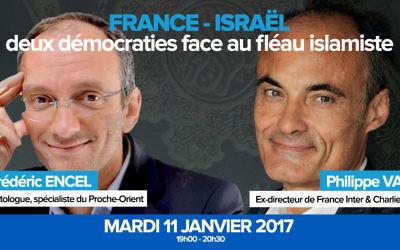 Conférence de Fréderic Encel et Philippe Val à la TAL Buisness School de Tel-Aviv