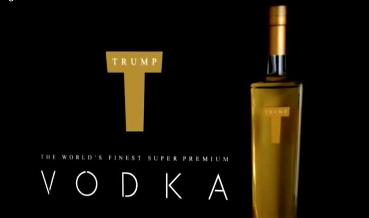 Image d'un spot publicitaire pour la vodka Trump. (Crédit : capture d'écran Youtube)