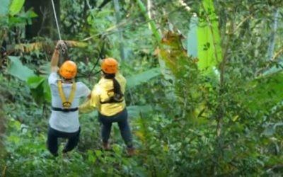 """Le tour en tyrolienne du """"Vol du Gibbon"""", à Chaing Mai, en Thaïlande. Illustration. (Crédit: capture d'écran YouTube)"""