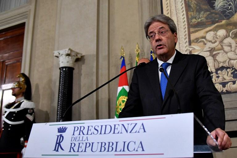Le nouveau Premier ministre italien Paolo Gentiloni lors d'une conférence de presse à Rome le 11 décembre 2016. (Crédit : AFP PHOTO / Alberto PIZZOLI)