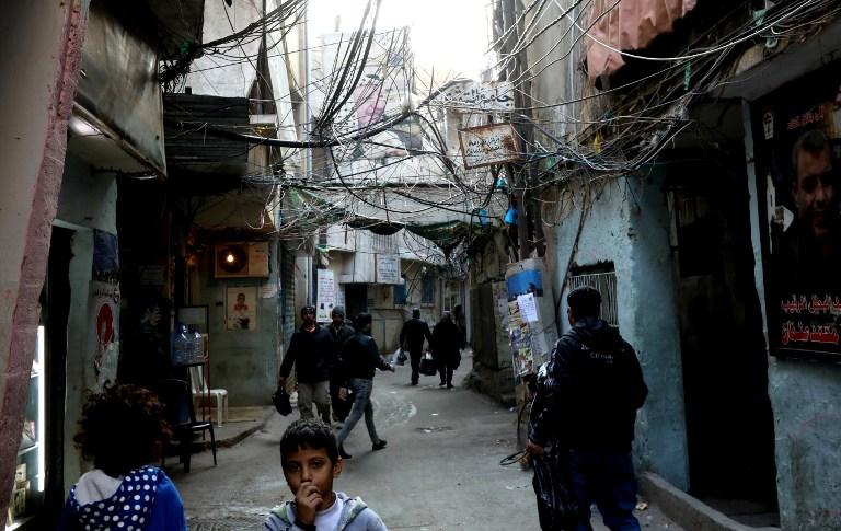 Le camp de réfugiés palestiniens de Shatila, au sud de Beyrouth, au Liban, le 7 janvier 2017. (Crédit : Anwar Amro/AFP)