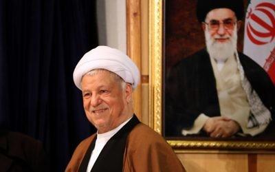 L'ancien président iranien Akbar Hashemi Rafsanjani, au ministère de l'Intérieur à Téhéran, le 21 décembre 2015. (Crédit : AFP / ATTA KENARE)