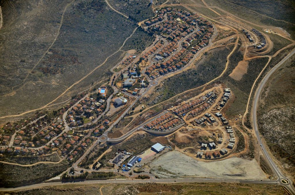 L'implantation de Nili, dans le Binyamin, en Cisjordanie. Illustration. (Crédit : Dvirraz/CC BY-SA 3.0/WikiCommons)